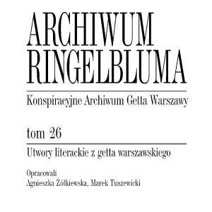 Utwory literackie z getta warszawskiego