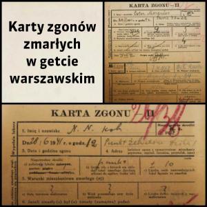Karty zgonu zmarłych w warszawskim getcie