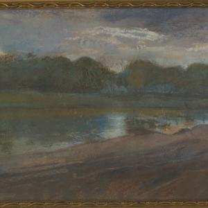 Pejzaż Krajobraz nad rzeką