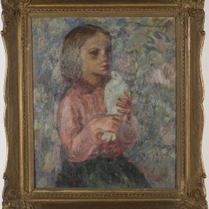 Dziewczyna z gołąbkiem