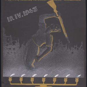 """Projekt plakatu """"Bojownikom o godność narodu żydowskiego"""""""