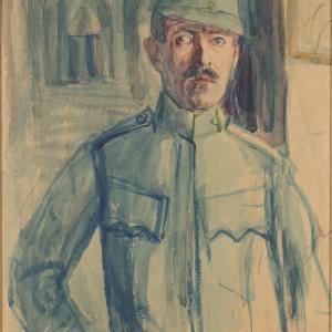 Autoportret (?) w mundurze żołnierza austriackiego