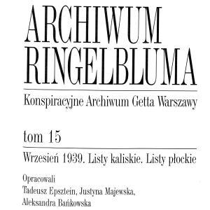 Wrzesień 1939. Listy kaliskie. Listy płockie