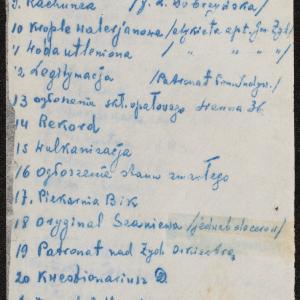 """Spisy materiałów archiwalnych włączonych do zbiorów """"Oneg Szabat"""" (fragmenty)"""