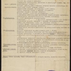Plan pracy o nominalnych i realnych zarobkach rzemieślnika, chałupnika i robotnika żydowskiego