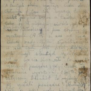 Rodzina Gelbartów do Rywena Gelbarta w getcie warszawskim o mordowaniu Żydów w ośrodku zagłady w Chełmnie nad Nerem