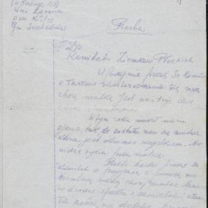 """""""Listy płockie"""". List Chany Borenstejn do Komitetu Ziomkostwa Płockiego"""