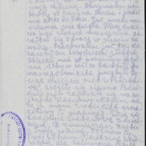 List Abrama z Płocka z 14.03.1941 r.