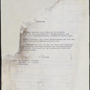Pismo do AJDC w sprawie zaświadczeń chroniących placówki AJDC przed konfiskatami