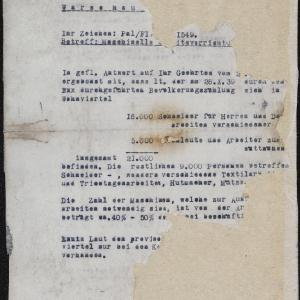 Pismo Rady Żydowskiej w Warszawie z 09.03.1941 r. do Wydziału Przesiedleń