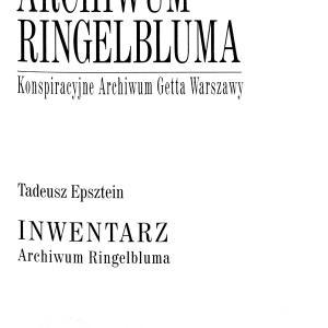 Inwentarz Archiwum Ringelbluma