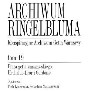 Prasa getta warszawskiego: Hechaluc-Dror i Gordonia