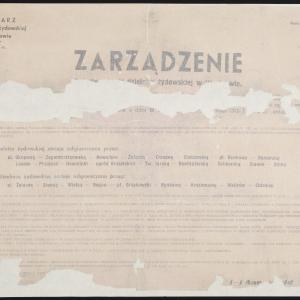 Obwieszczenie z 23.10.1941. o nowych granicach getta warszawskiego