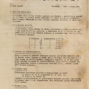 """Akcja Pomocy Zimowej 1941-1942, """"Okólnik Informacyjny"""", nr 1 z 12.1941"""