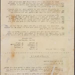 Patronat nad żydowską działalnością kulturalną. Odezwa Żydowskiego Komitetu Szkolnego, wzywająca do wsparcia szkół z żydowskim językiem wykładowym