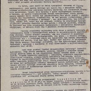 """Apel o utworzenie """"Zakładu Zaopatrywania Duchowego"""" ludności żydowskiej"""
