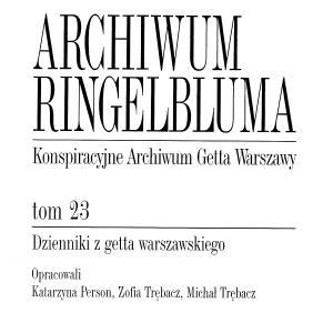 Dzienniki z getta warszawskiego