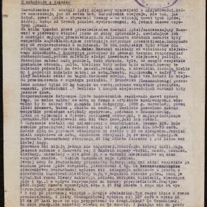 """Relacja pt. """"U uchodźców z Niemiec"""" (04.1942 r.)"""