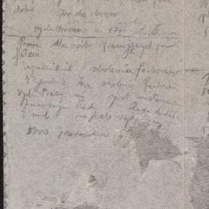Notatki dotyczące spraw gospodarczych getta warszawskiego, rachunki, zestawienia liczb