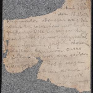 List do Tauby Różanej (Warszawa, ul. Dzielna [1...?])