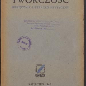 Twórczość : miesięcznik literacko-krytyczny /