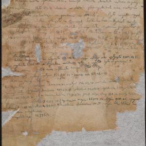 Notatki Emanuela Ringelbluma dotyczące działalności różnych wydziałów Rady Żydowskiej w Warszawie