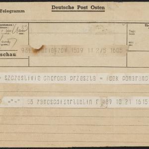 Depesza Icchaka Pomaranca do współtowarzyszy z Hechaluc-Dror w Getcie Warszawskim
