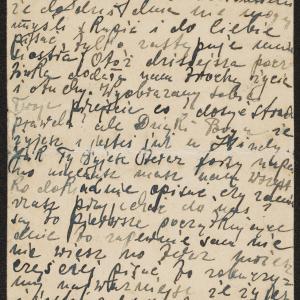 List W. Wołkowicza 27.02.1942 r. do NN. (Leiwe) (Warszawa, ul. Nowolipie 47 m. 95, u Hindy Strykowskiej)