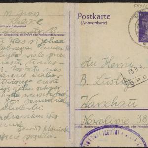 Mojsze Gross do B. Lustiga w getcie warszawskim o totalnym charakterze hitlerowskiej eksterminacji