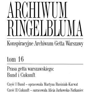 Prasa getta warszawskiego: Bund i Cukunft