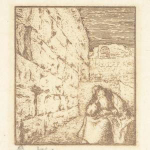 """Hagada szel Pesach - Ściana płaczu """"Uwenë jeruschalajim…"""" (Die Klagemauer)"""
