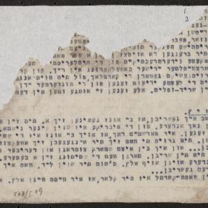 Odpisy korespondencji, m.in. z Krośniewic do getta warszawskiego (fragment)