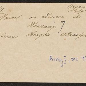 Relacja dotycząca warunków podróży ze Lwowa do getta warszawskiego w grudniu 1941