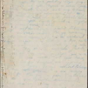 List Bronki Głowińskiej do męża [?] i Gołdy Tabaczyńskiej