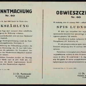 Przełożony Starszeństwa Żydów w Litzmannstadt, Obwieszczenia i inne druki