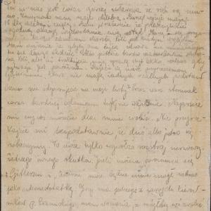 List (gryps) Bebe [więzienie na ul. Gęsiej?] do NN. i Poli Elster (ul. Miła 54 m. 21)