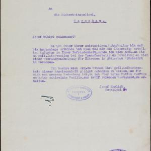 Pisma Josefa Ehrlicha (ul. Nowolipki 24 m. 46) do Policji Bezpieczeństwa i Głównego Urzędu Celnego-Zachód w Warszawie