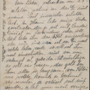 List niezidentyfikowanej Lei (Berlin) do Randa w getcie warszawskim w sprawie starań o ocalenie syna lub brata
