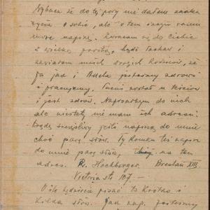 List NN do Romana Weinberga (Warszawa-getto, ul. Nowolipie 58) z 19.10.1942 r.