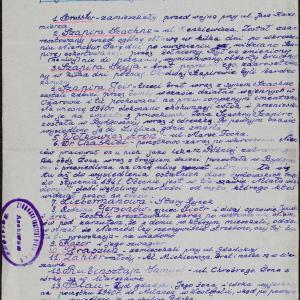 List osób aresztowanych w październiku 1939 r. w Bydgoszczy