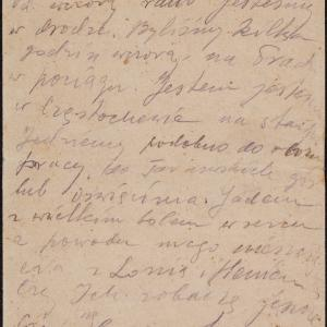 List niezidentyfikowanego Marka z Płońska do rodziny w getcie warszawskim o deportacji z getta