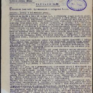 Okólnik ŻSS w Krakowie nr 61 z 11.06.1942 r.