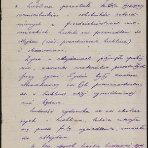 Relacja o ucieczce z getta na Majdanie Tatarskim pod Lublinem