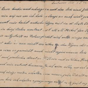 Listy więźnia Szymona Taube (Lautawerk Süd) do brata Uszera Taube w getcie warszawskim