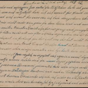 List więźnia Szymona Taube (Lautawerk Süd) do brata Uszera Taube w getcie warszawskim