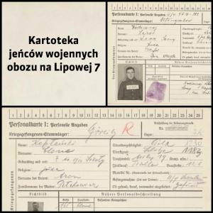 Kartoteka jeńców wojennych obozu na Lipowej 7