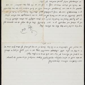 List do Szachno Sagana (?) w Warszawie, opisujący stosunki panujące w Łodzi