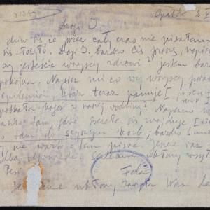 List Feli do kierownictwa organizacji Hechaluc-Dror w getcie warszawskim o egzekucji w Ostrowcu Świętokrzyskim