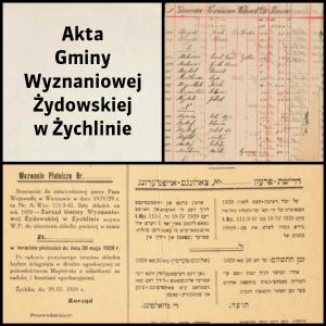 Akta Gminy Wyznaniowej Żydowskiej w Żychlinie