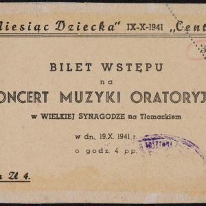Zaproszenia i bilety na imprezy kulturalne organizowane w getcie warszawskim